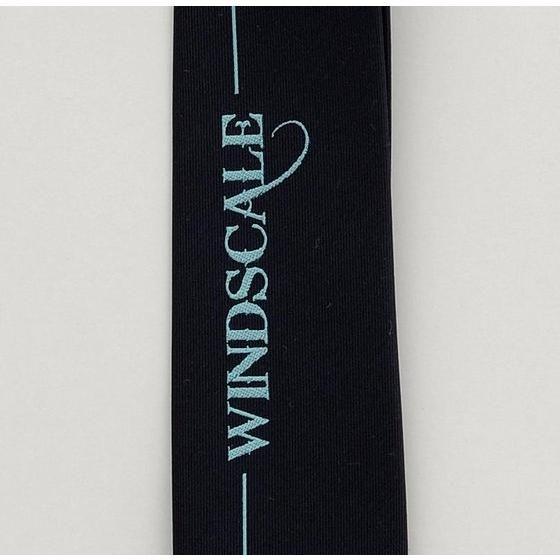 ウインドスケール(WIND SCALE)ロゴ柄 ネクタイ  2013spring 明紺、ミント