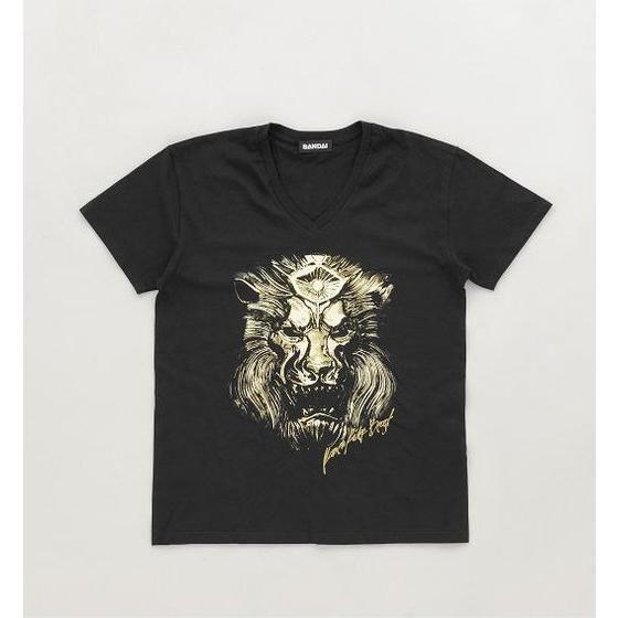 【仮面ライダーウィザード】仮面ライダービースト ベルト柄VネックTシャツ