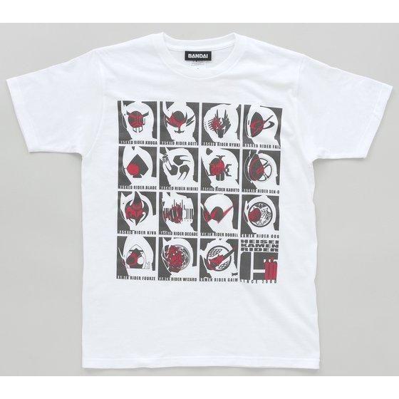 平成仮面ライダー15作品記念Tシャツ フェイス&マーク ブロック柄