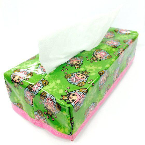 ワンピース BOXティッシュカバー チョッパー総柄