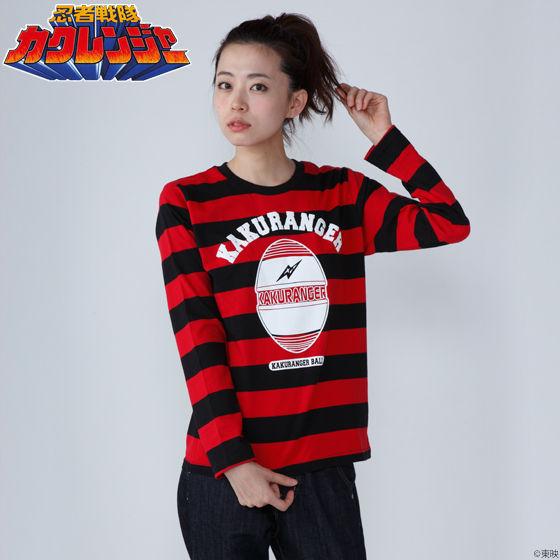 忍者戦隊カクレンジャー ボーダーロングTシャツ
