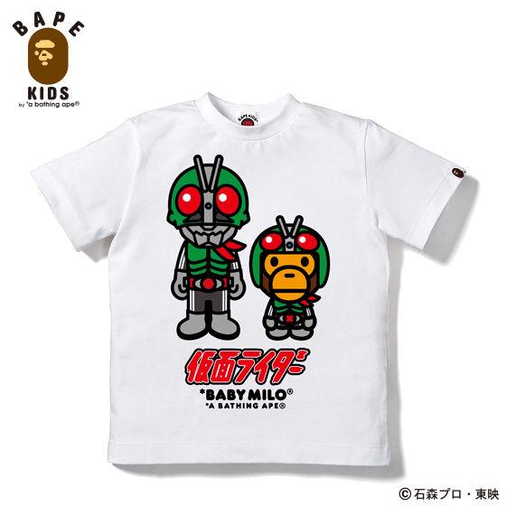 A BATHING APEコラボ 仮面ライダー Tシャツ#4 KIDS