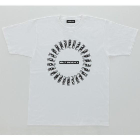 仮面ライダーW ガイアメモリ柄 Tシャツ ラウンド