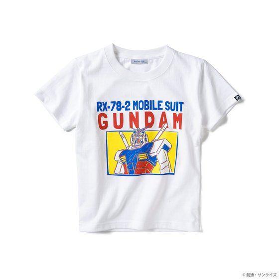 STRICT-G 『機動戦士ガンダム』キッズTシャツ ガンダムPOP柄 / ホワイト / 110