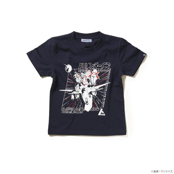 STRICT-G 『機動戦士ガンダムUC』キッズTシャツ ユニコーンガンダム&デルタプラス柄 / ネイビー / 110