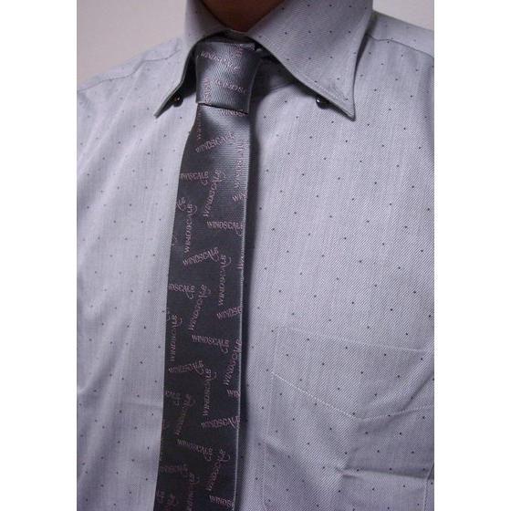 ウインドスケール(WIND SCALE)ロゴ総柄 ネクタイ  2013spring グレー、オレンジ