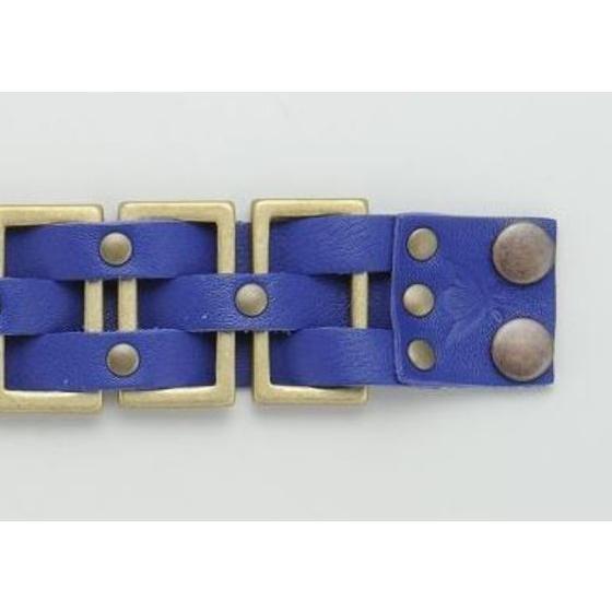 【4月お届け】海賊戦隊ゴーカイジャー ブルー レザーメタルブレス