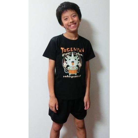 妖怪ウォッチ 親子Tシャツ KIDSサイズ トゲニャン (ブラック)