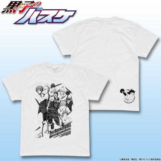 黒子のバスケ キャラクター集合柄Tシャツ