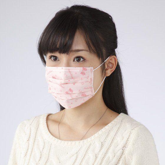 セーラームーン メイクがつきにくい不織布マスク