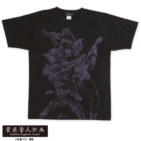 菅原芳人計画 仮面ライダー響鬼 関東3鬼柄Tシャツ