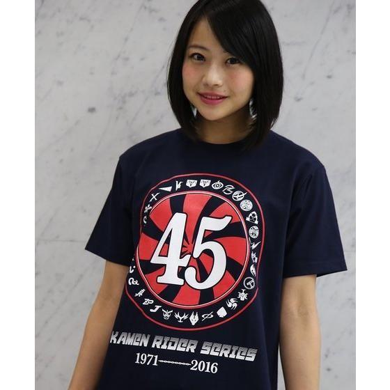 仮面ライダーシリーズ45th Tシャツ タイフーン柄 紺