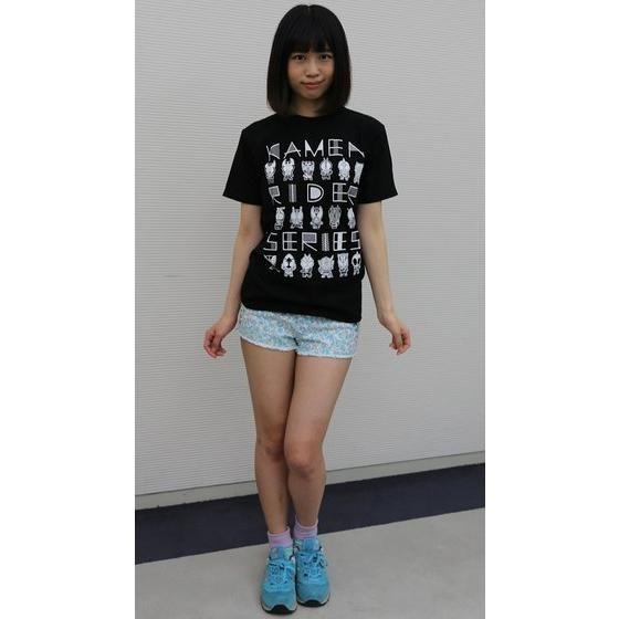 仮面ライダーシリーズ45周年記念 平成仮面ライダーデフォルメTシャツ(ブラック)