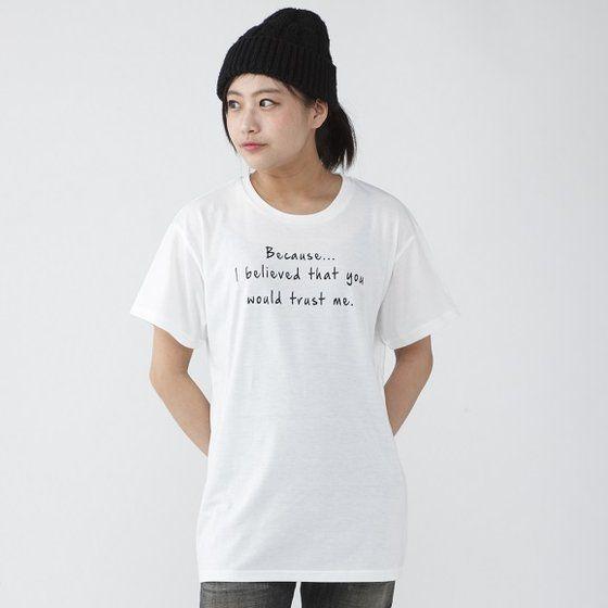 TIGER & BUNNY セリフTシャツ「Because・・・」