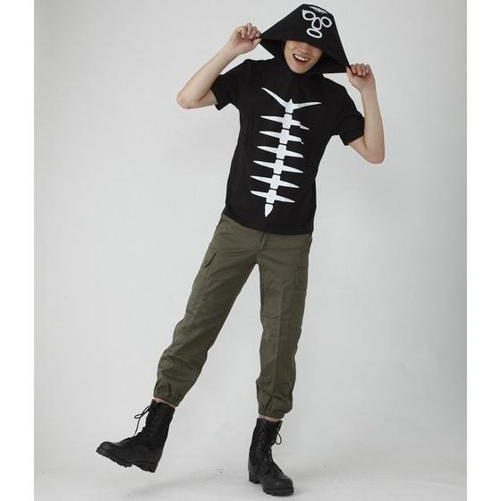 仮面ライダー ショッカー戦闘員なりきり風半袖パーカー Lサイズ