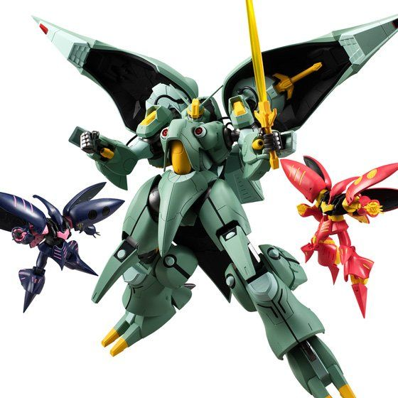 ASSAULT KINGDOM ZZ GUNDAM QUIN-MANTHA AND QUBELEY MK-II SET