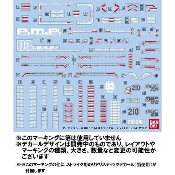 RG 1/144 ストライクルージュ+HG 1/144  I.W.S.P. 【再販】