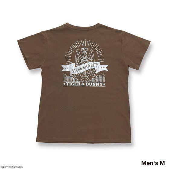 TIGER & BUNNY シュテルンビルト 女神像バックプリント VネックTシャツ