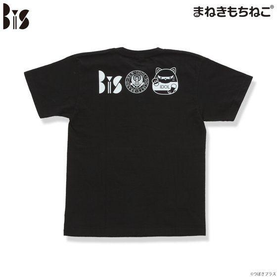 まねきもちねこ BiS Tシャツ 黒