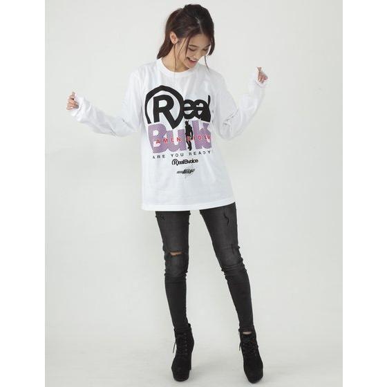 仮面ライダービルド×RealBvoice(リアルビーボイス) 長袖Tシャツ (白)