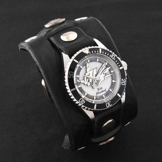 デジモンアドベンチャー OMEGAMON× Red Monkey Designs Wristwatch Silver925 High-End Model Black