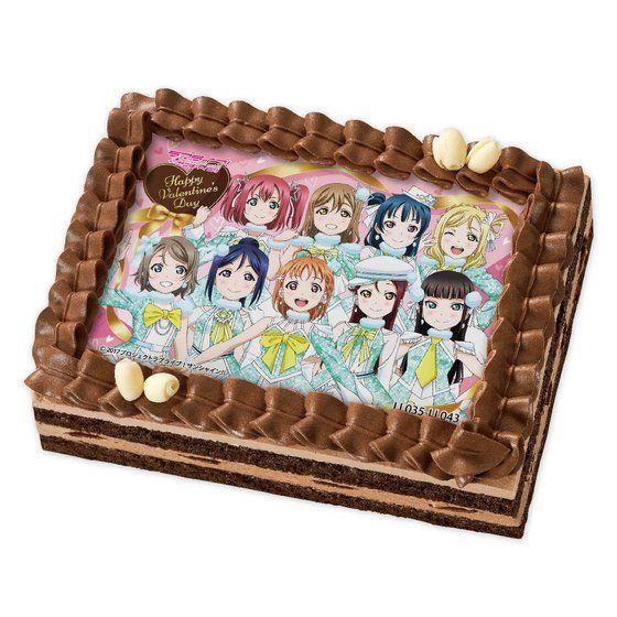 [キャラデコプリントケーキ バレンタイン]ラブライブ!サンシャイン!! 渡辺曜(メッセージカード付)