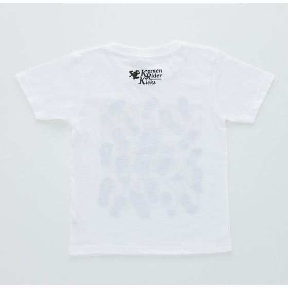 仮面ライダージオウ&平成仮面ライダー Tシャツ 足跡柄 ホワイト こども用