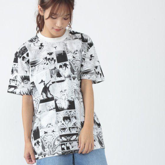 永井豪 画業50周年 漫画柄Tシャツ デビルマン