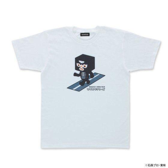 カクカクシリーズ ショッカー 半袖Tシャツ白
