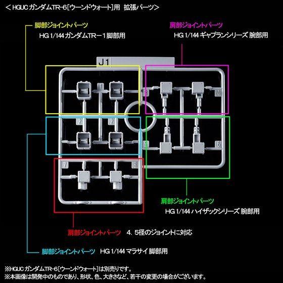 HG 1/144 ガンダムTR-1[アドバンスド・ヘイズル]&ガンダムTR-6用拡張パーツ