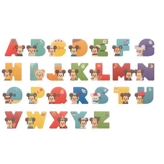 【単品】Disney|KIDEA <Alphabet>
