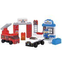BlockLabo(ブロックラボ)  ビークルブロック パトカーと消防車ブロックバケツ