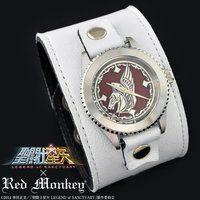 聖闘士星矢 LEGEND of SANCTUARY x red monkey designs Collaboration Wristwatch WHITE Ver.