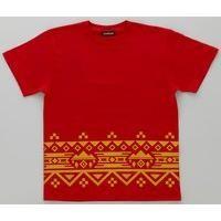 動物戦隊ジュウオウジャー ジュウオウイーグル/風切大和 半袖Tシャツ ノルディック裾柄(レッド)