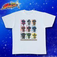 宇宙戦隊キュウレンジャー フルカラーデフォルメ柄Tシャツ カード柄