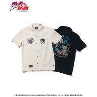 ジョジョの奇妙な冒険【glamb】開襟シャツ イギー&ペット・ショップ