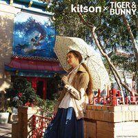 kitson × TIGER & BUNNY 晴雨兼用 折りたたみ傘 ※オリジナルハンカチ付き