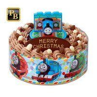 キャラデコお祝いケーキ きかんしゃトーマス(チョコクリーム)[5号サイズ]【2019年12月発送・クリスマス予約】