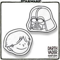STAR WARS DARTH VADER and son ミニタオル