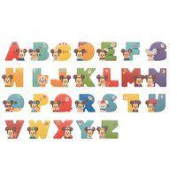 【26文字セット】Disney|KIDEA <Alphabet>