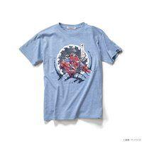 STRICT-G JAPAN Tシャツ 唐紙文様青海波シャア専用ズゴック柄