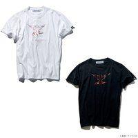 STRICT-G『機動戦士ガンダム 逆襲のシャア』箔プリントTシャツ サザビー・シールド柄