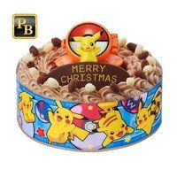 キャラデコお祝いケーキ ポケットモンスター(チョコクリーム)[5号サイズ]【2020年12月発送・クリスマス予約】