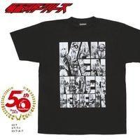 仮面ライダーセイバー&仮面ライダー50th キャラクターロゴ柄 Tシャツ