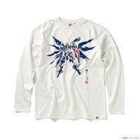 STRICT-G JAPAN 『機動戦士ガンダム SEED』長袖Tシャツ 筆絵風フリーダムガンダム柄