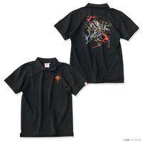 STRICT-G JAPAN 『機動戦士ガンダム 閃光のハサウェイ』 ポロシャツ 筆絵風Ξ(クスィー)ガンダム【2次:2021年10月発送】