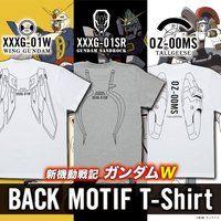 新機動戦記ガンダムW バックモチーフ Tシャツ 【2021年10月発送】