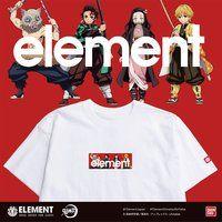 鬼滅の刃×ELEMENT メンズTシャツ【五次受注:2021年10月発送】