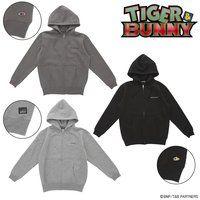 TIGER & BUNNY 刺繍 ジップアップパーカー(裏起毛)
