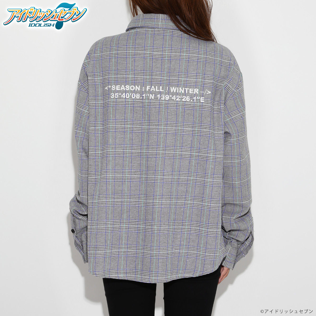 YAMATO NIKAIDO Over sized Check shirts